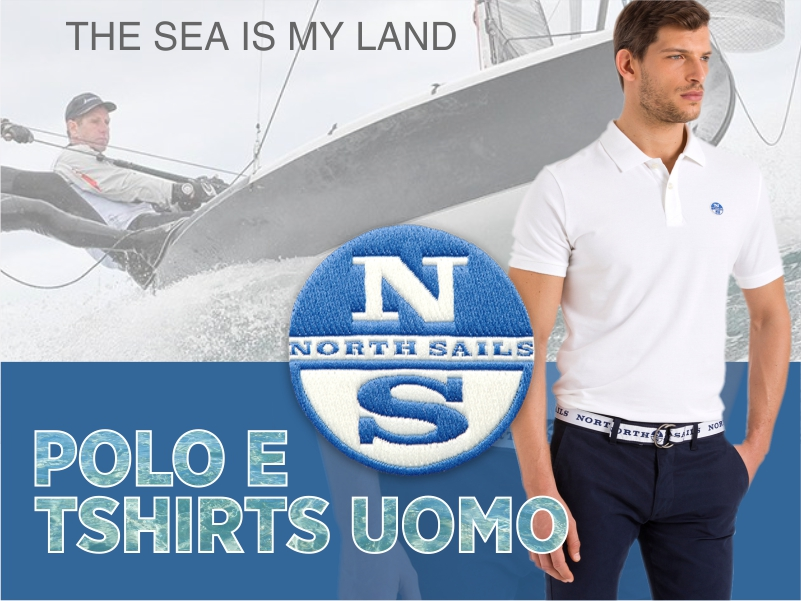 North Sales polo e t shirts uomo mob da BDM Genova