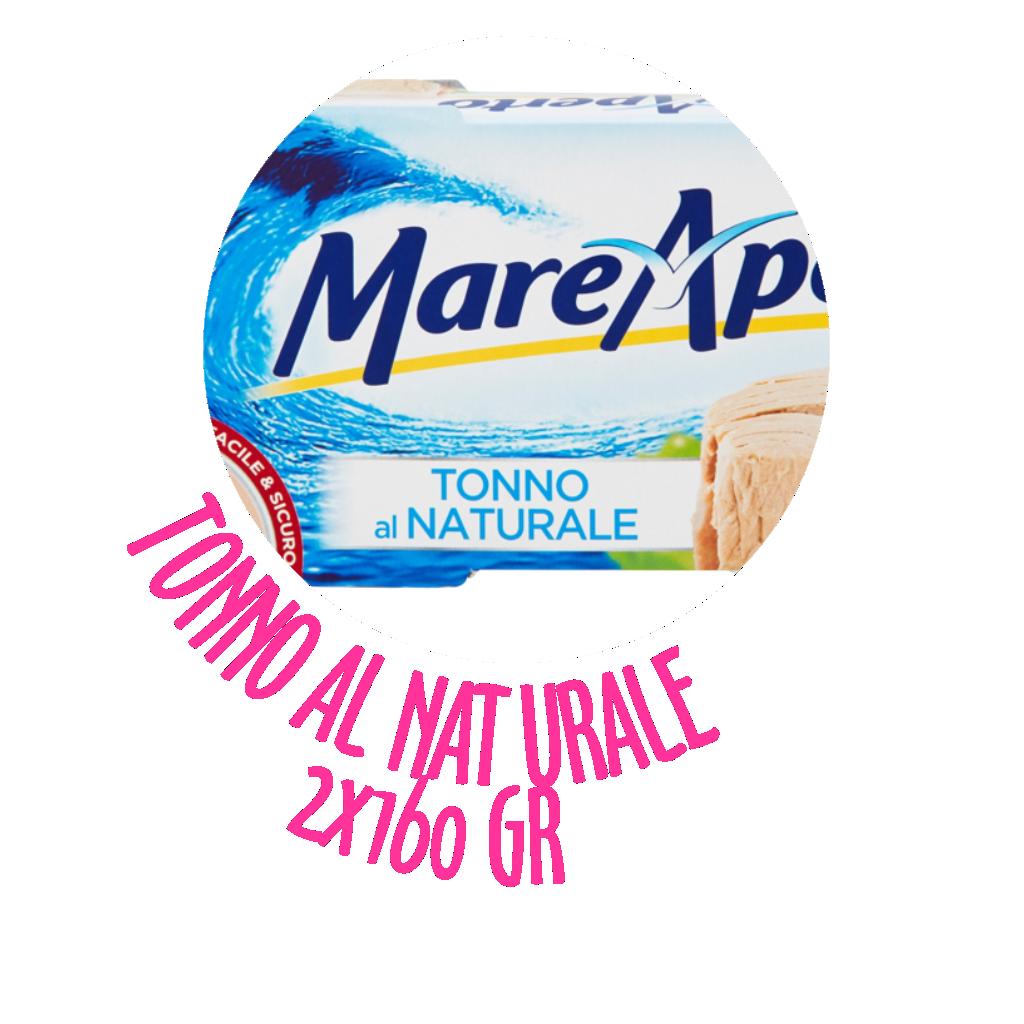 Mare Aperto tonno e insalate di mare Tonno naturale 2x160gr