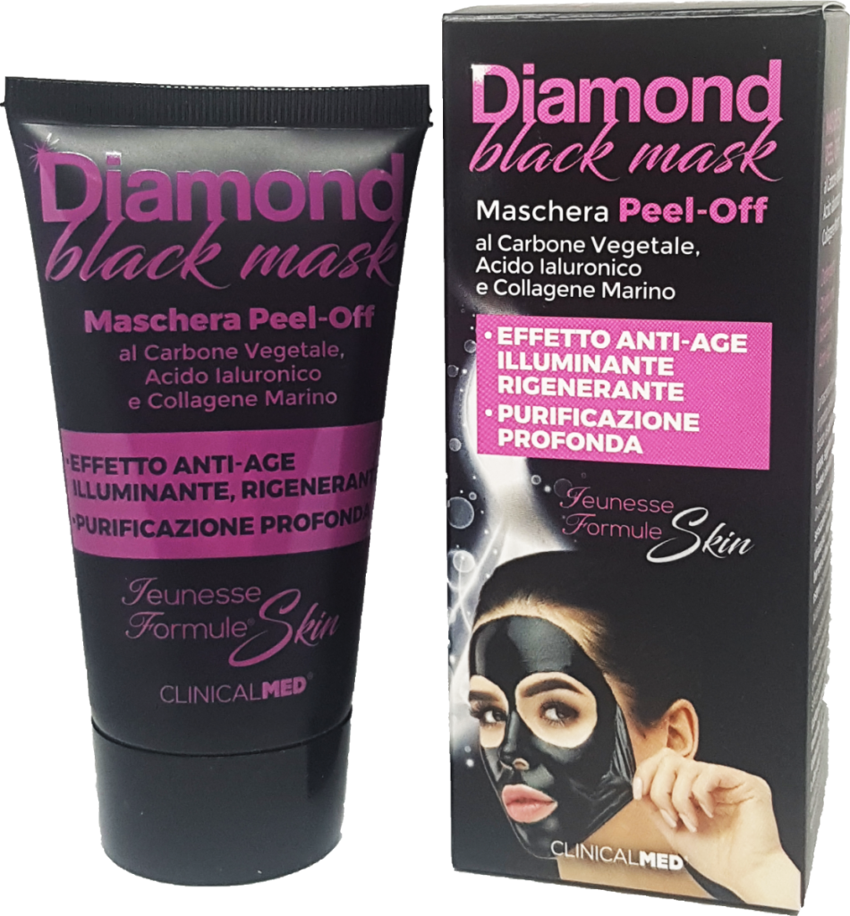 ClinicalMED maschera anti-age Diamond black-mask
