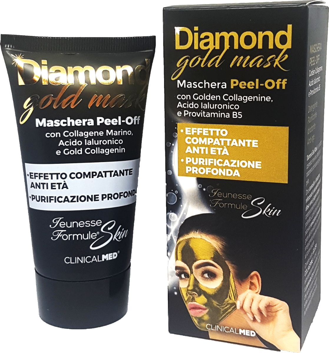 ClinicalMED maschera anti-age Diamond gold-mask