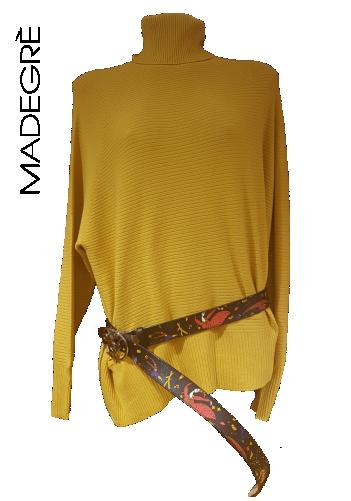 Madegrè abbigliamento donna maglioncino-giallo