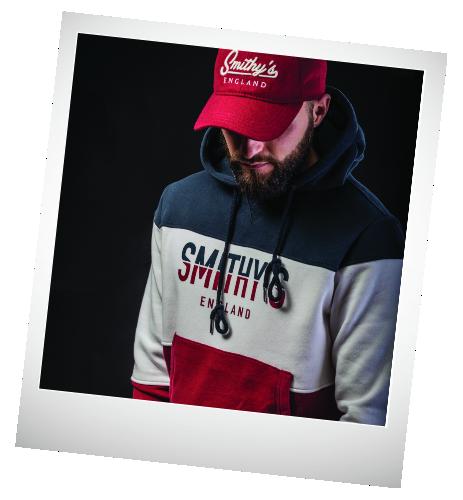 Smithy's England abbigliamento uomo felpa-3colori-cappuccio