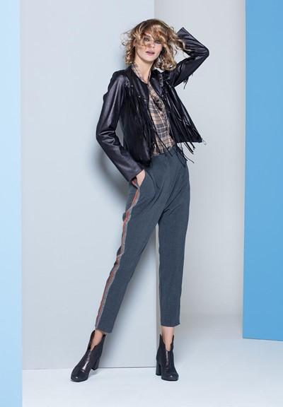 Operà Fashion Autunno-Inverno 2018 pantalone con banda laterale