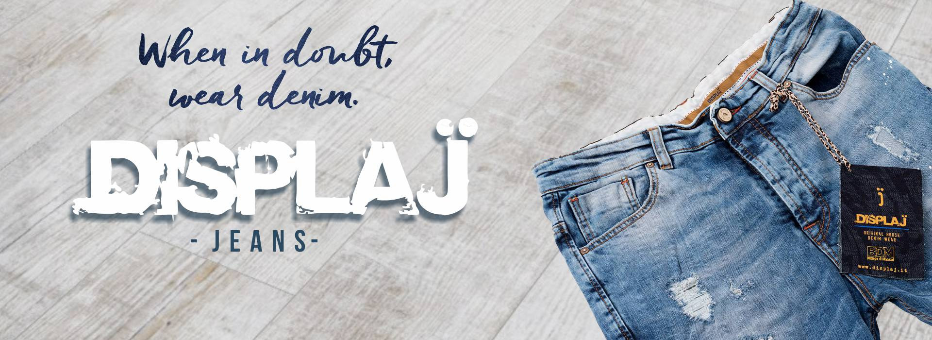 Display Jeans donna e uomo NEW
