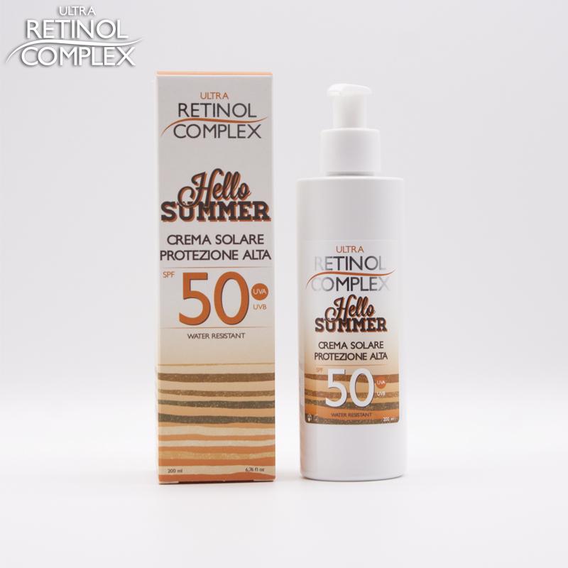 Retinol Complex prodotti di bellezza crema solare protezione 50