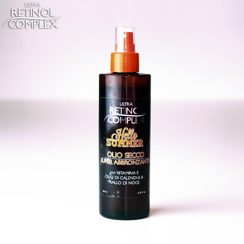 Retinol Complex prodotti di bellezza olio secco super abbronzante