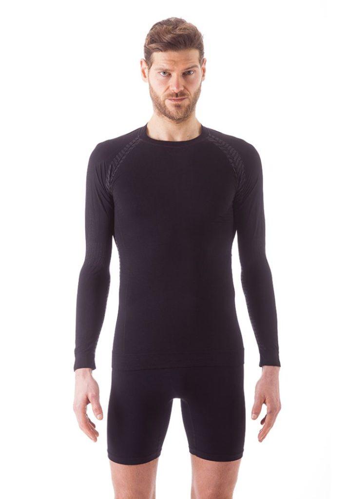Bellissima Actiwear abbigliamento polisport AW-MAGLIA-M.-LUNGA-UOMO-nero