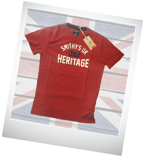 Smithy's spring summer 2019-heritage-red-tshirt