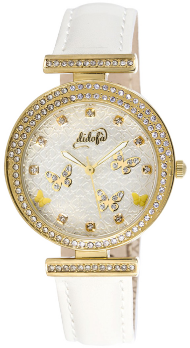 Didofà orologi fashion fantasiadonna farfalla-bianco