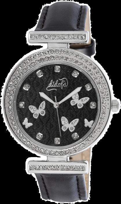 Didofà orologi fashion fantasia donna farfalla-nero