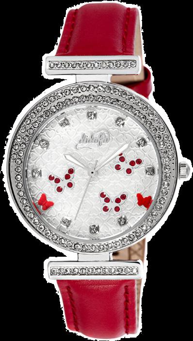 Didofà orologi fashion fantasia donna farfalla-rosso