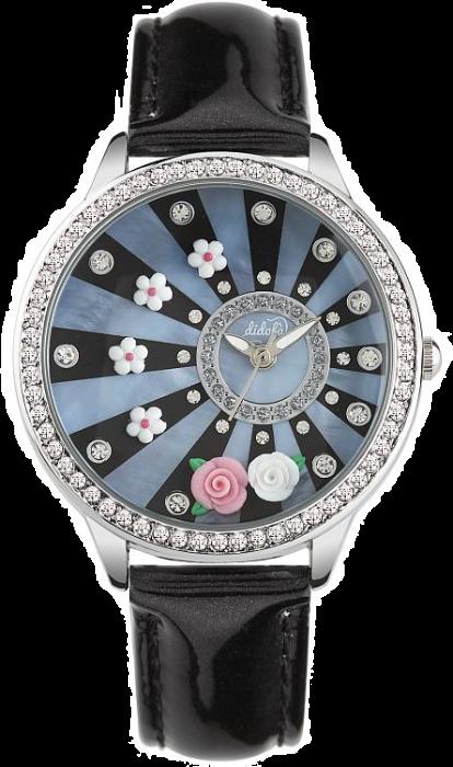 Didofà orologi fashion fantasia donna fiore nero